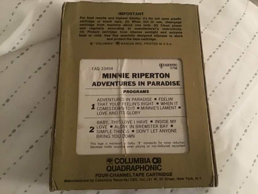 Minnie Riperton Adventures In Paradise Quadraphonic 8 Track
