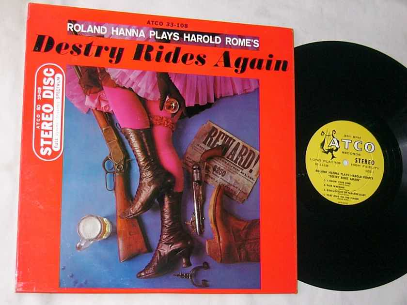 ROLAND HANNA - DESTRY RIDES AGAIN - - RARE ORIG 1959 JAZZ LP - ATCO SD 33-108