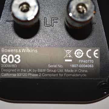 B&W (Bowers & Wilkins) 603