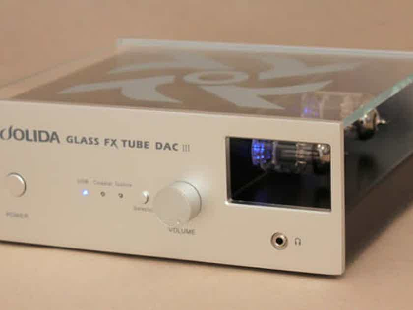 Jolida Glass FX Tube DSD DAC DSD Tube DAC/Preamp w/headphone amp