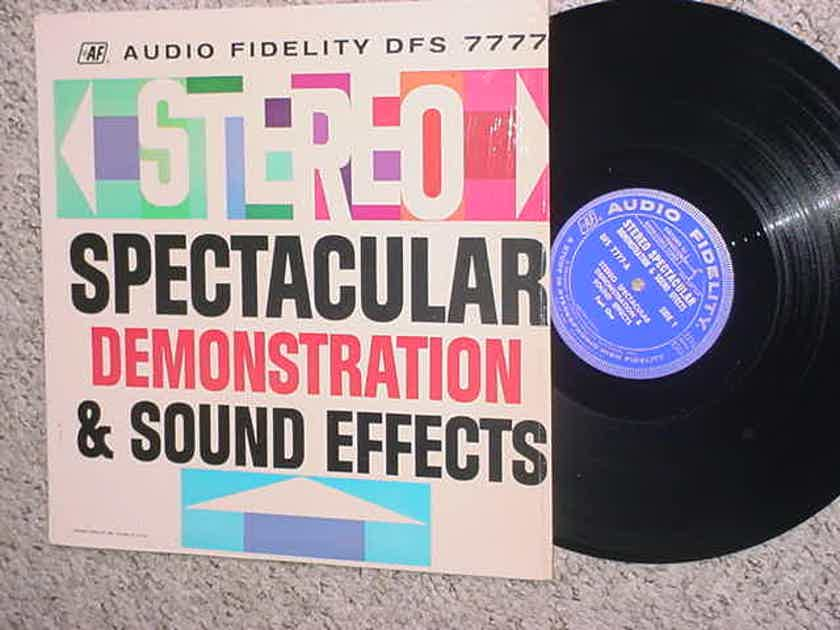 Audio Fidelity DFS 7777  lp record - Stereo spectacular demonstration & sound effects in shrink