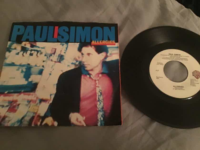 Paul Simon 45 With Picture Sleeve Vinyl NM  Allergies/Think Too Much(b)