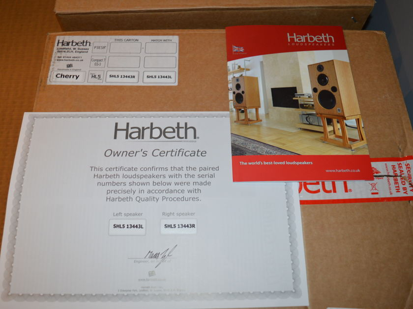 Harbeth Super HL5 Plus including Foundation Stands, shipping included
