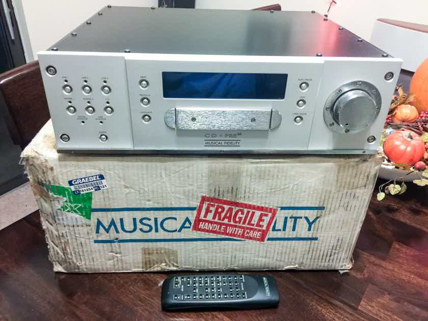 Musical Fidelity CD-Pre24 Preamp with Nu-Vista circuitry and CDP and DAC built it!