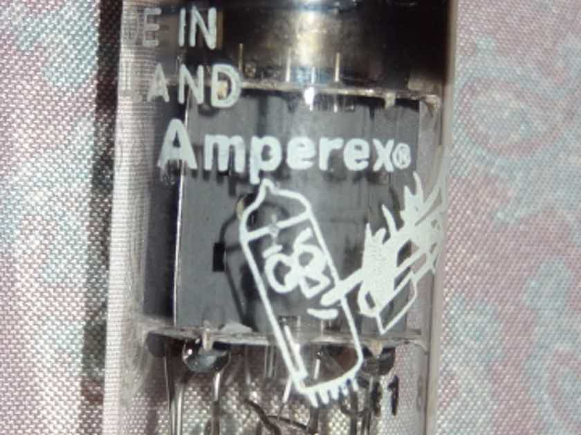 "Amperex Ultra Rare ""D"" Ring getter 12au7/7316 Nos/Nib"