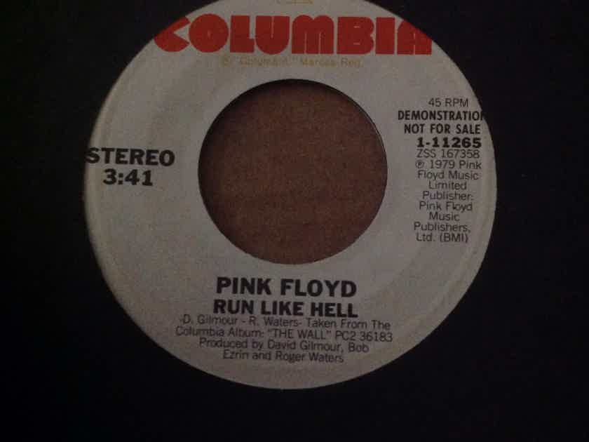 Pink Floyd - Run Like Hell Columbia Records Promo 45 Single  Vinyl NM