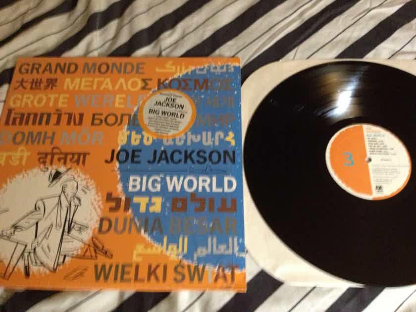 Joe Jackson - Big World 2 LP 3 Sided LP NM A & M Label Translucent Blue Vinyl