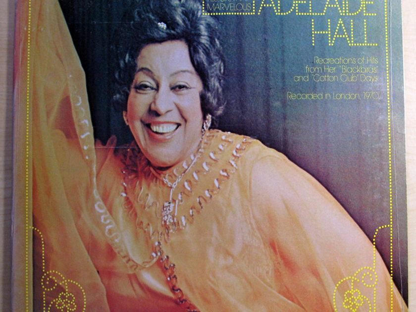 ADELAIDE HALL - THAT WONDERFUL ADELAIDE HALL - 1976 Monmouth-Evergreen Records MES77080