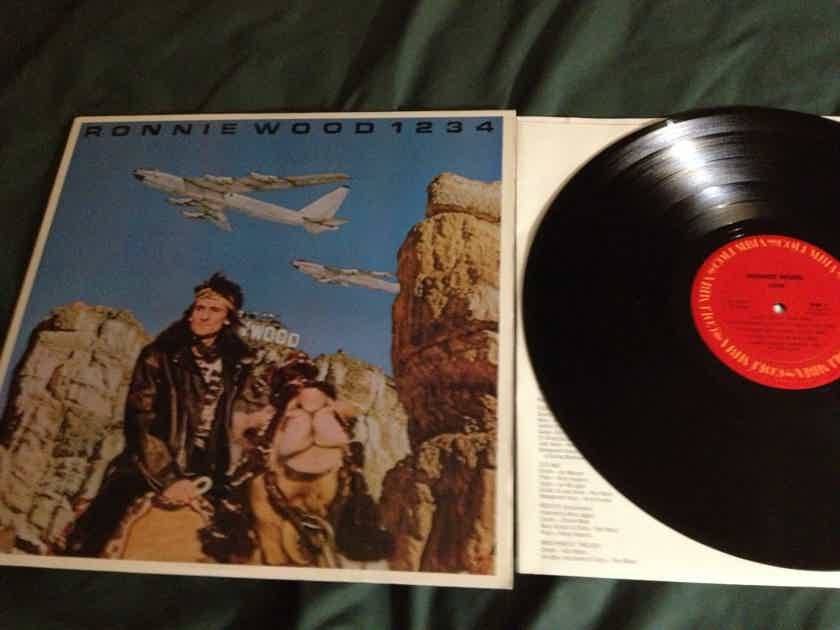 Ronnie Wood - 1234 Columbia Records Vinyl LP NM  Promo Stamp Back Cover