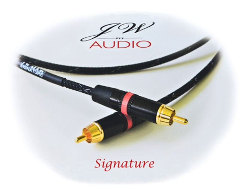 Jw Audio   Signature 1m - 1.5m rca or xlr  new beautiful,open and airy