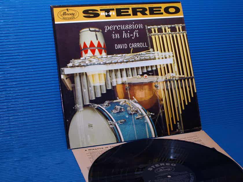 "DAVID CARROLL  - ""Percussion in Hi-Fi"" -  Mercury 1959 1st Pressing"
