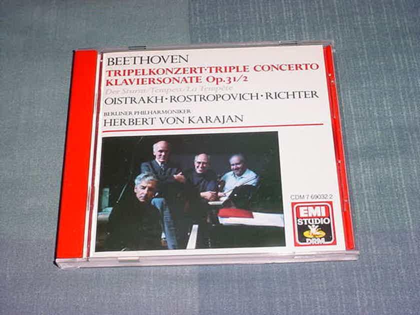 BEETHOVEN Oistrakh Herbert Von Karajan Tripelkonzert Triple concerto Klaviersonate op 31/2 cd