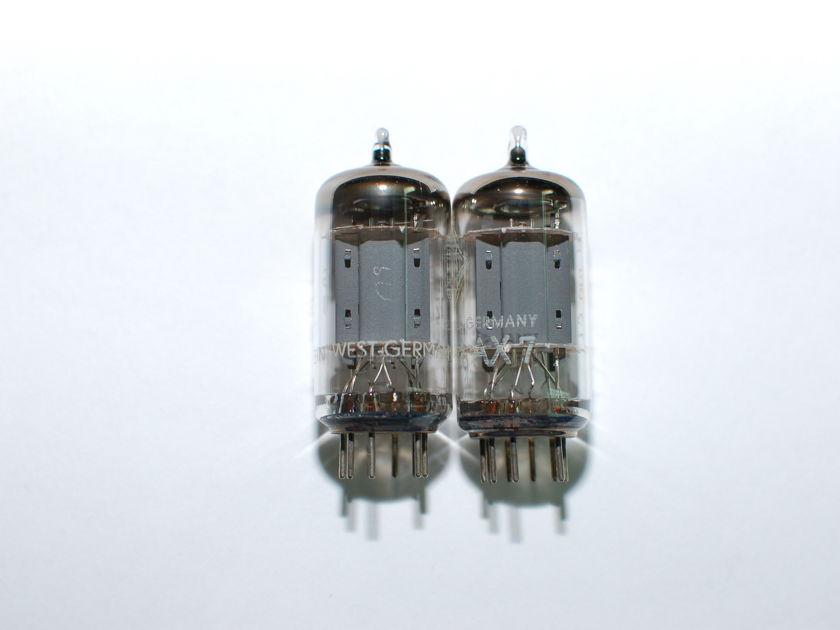 Telefunken ECC83 12AX7 NOS Smooth plate matched pair