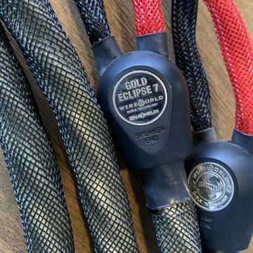 Wireworld Gold Eclipse 7 speaker cable 2.5m  pair..with...