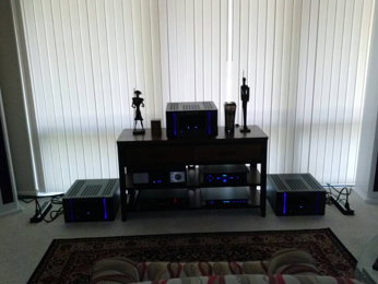 My newest system built around Roger Russells personal Mcintosh XR-290 line arrays .