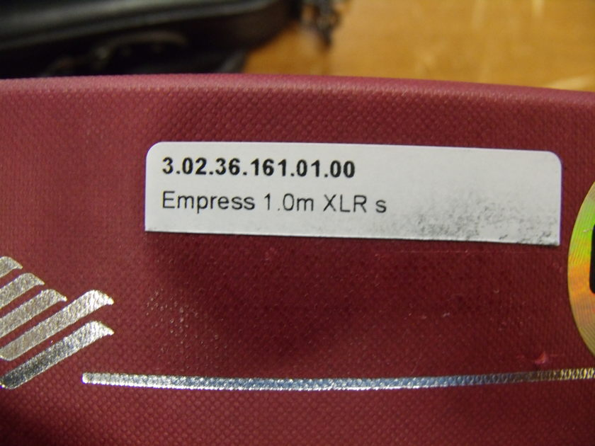 Siltech Cables Empress 1m, XLR Nearly NEW