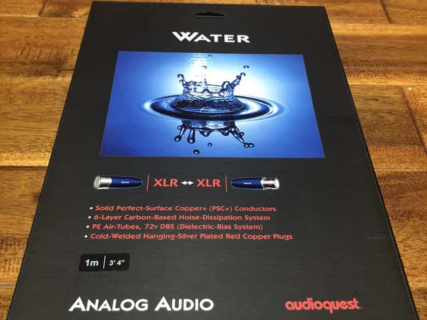 AudioQuest Water XLr  1m  Pair BRAND NEW in box