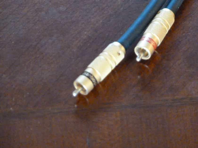 AUDIOQUEST QUARTZ HYPERLITZ 1 meter pair RCA's