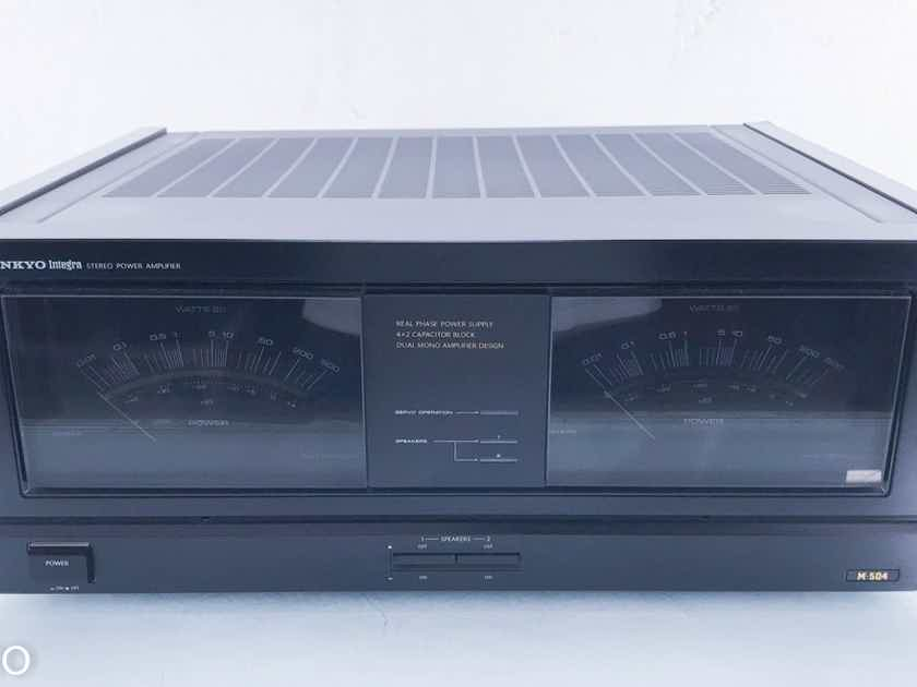 Onkyo Integra M-504 Stereo Power Amplifier M504 (14278)