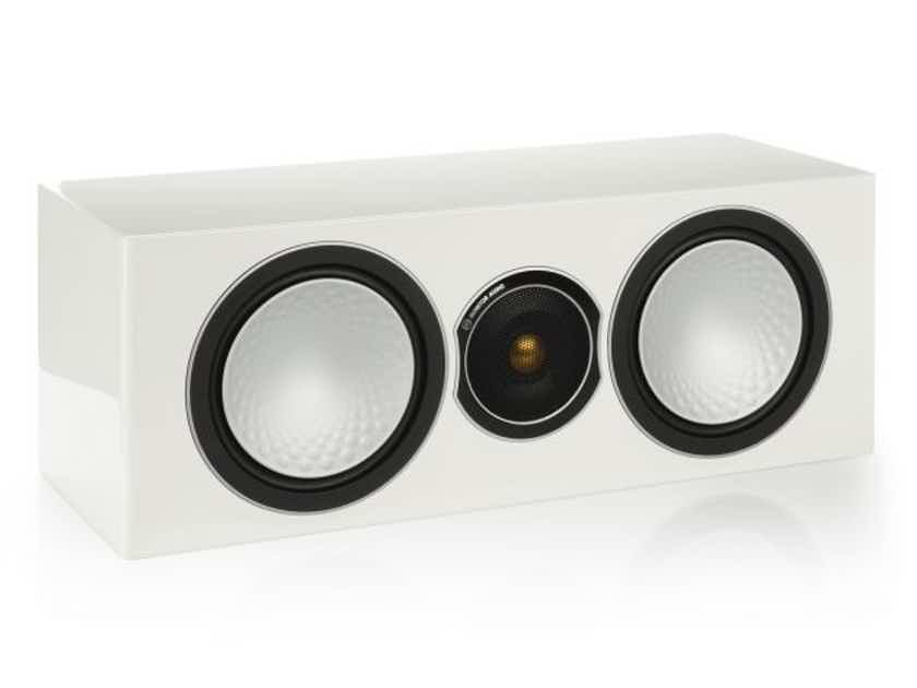 MONITOR AUDIO Silver Center Channel (High Gloss White): EXCELLENT Demo; 5 Yr. Warranty; 50% Off