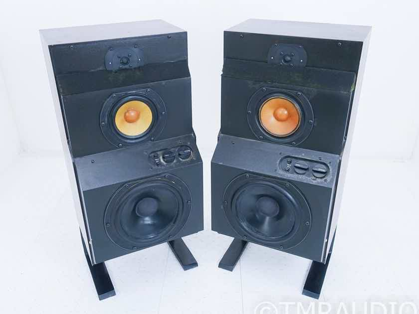 B&W DM6 Floorstanding Speakers; Walnut Pair; AS-IS (Bad Tweeter) (17571)