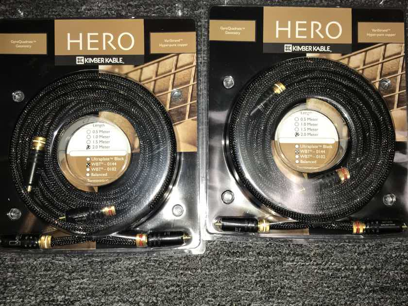 Kimber Kable Hero ic 2 meter WBT 0147 Brand new!!!! 2 pairs available