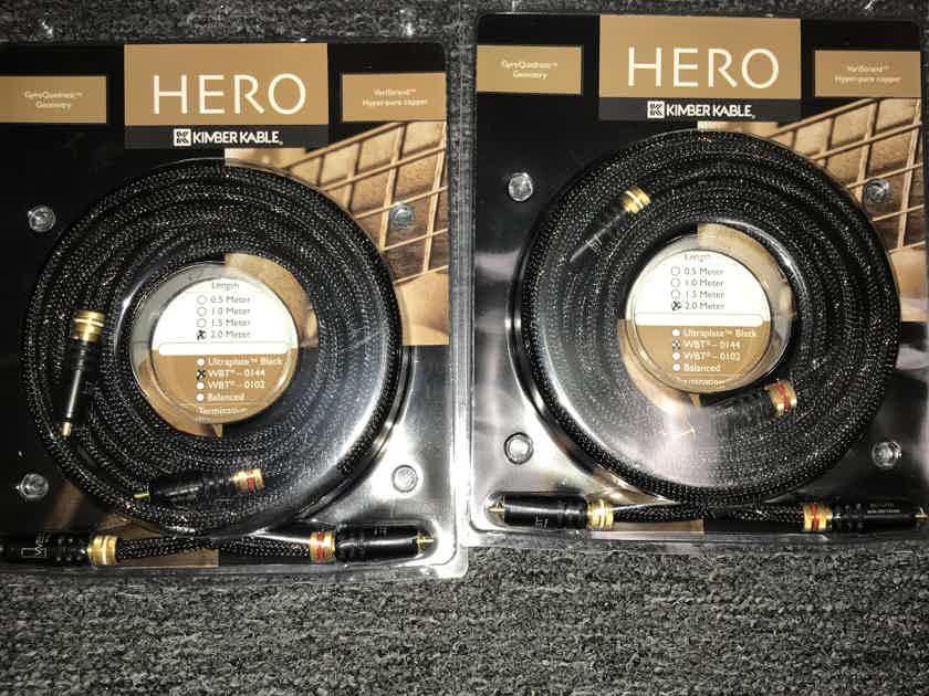 Kimber Kable Hero ic 2 meter WBT 0147 Brand new!!!! 2 pairs available