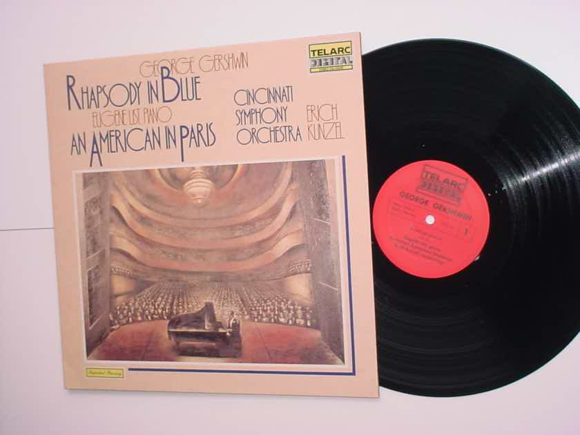 TELARC Digital George Gershwin lp record  Eugene List piano Erich Kunzel 1981