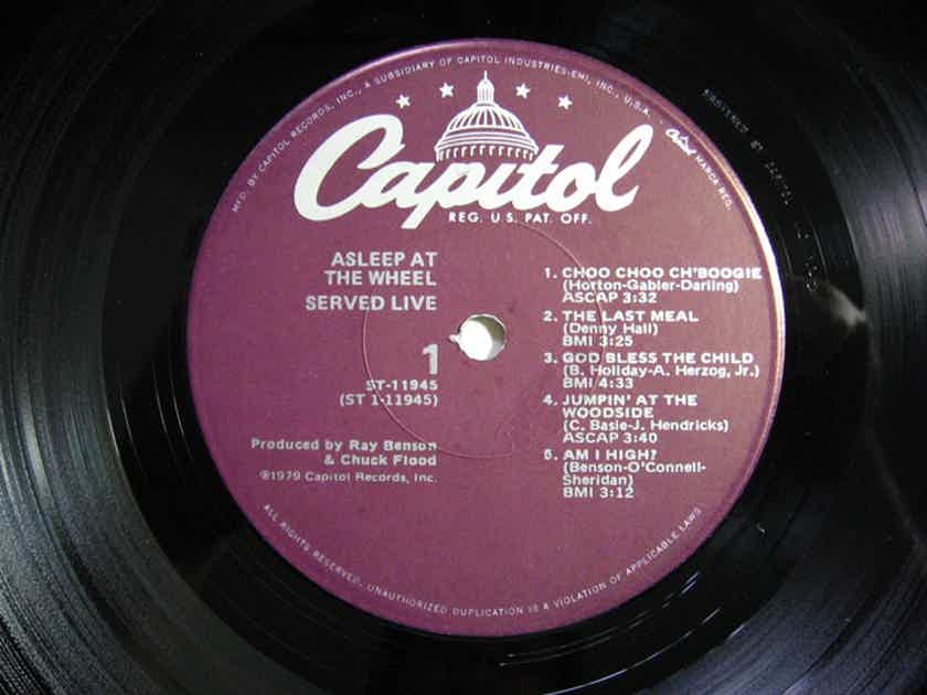 Asleep At The Wheel - Served Live 1979 NM Vinyl LP Capitol Records ST-11945