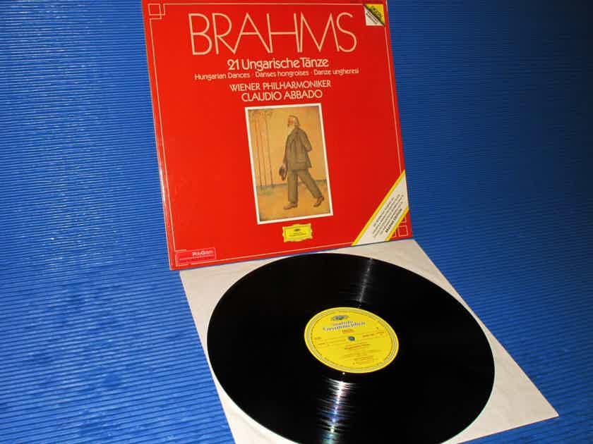 """BRAHMS / Abbado   - """"21 Hungarian Dances"""" -  DGG 1983 German Pressing"""