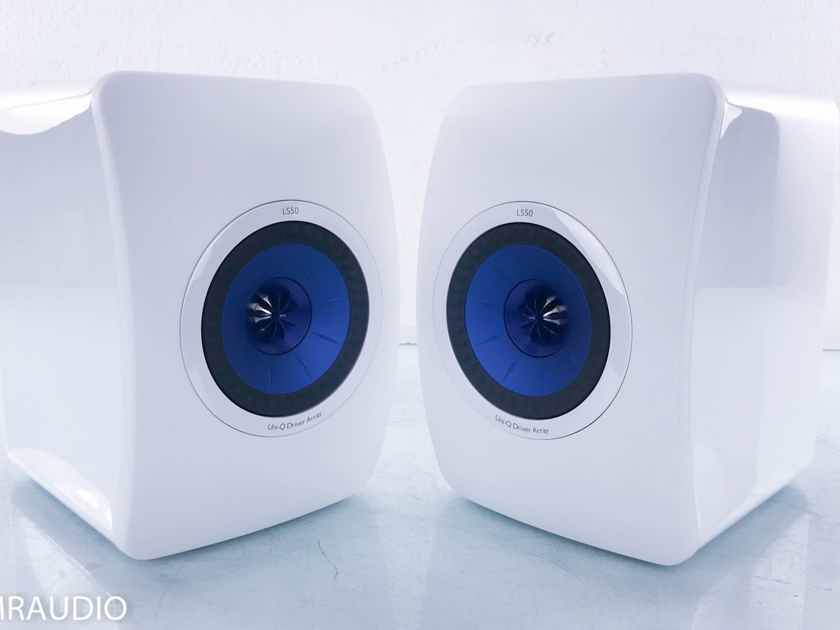 KEF LS50 Bookshelf Speakers White Pair (15187)