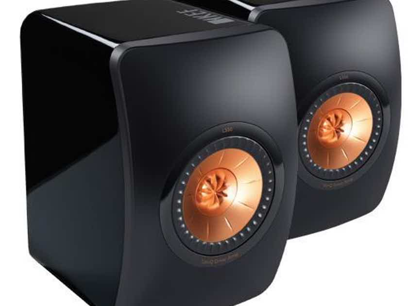 KEF LS50 Bookshelf Speakers; Black / Rose Gold Pair; LS-50 (New) (20287)