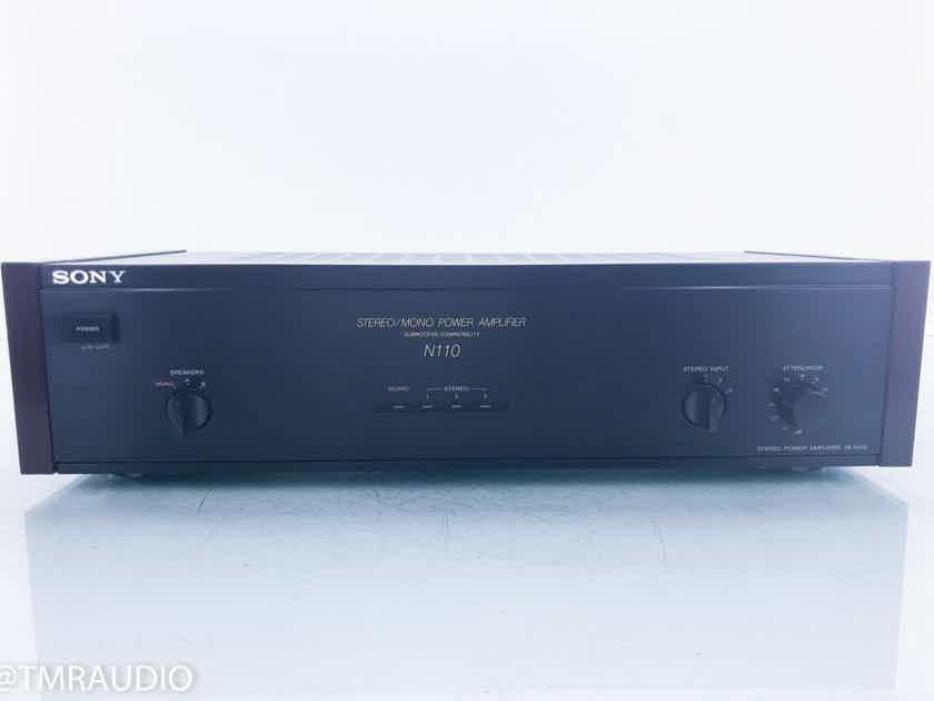 Sony TA-N110 Vintage Stereo Power Amplifier Wood Side Panels (16187)