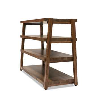 "Butcher Block Acoustics rigidrack™ 42"" X 18"" - 4 Shelf - Walnut Shelves -Walnut Legs"