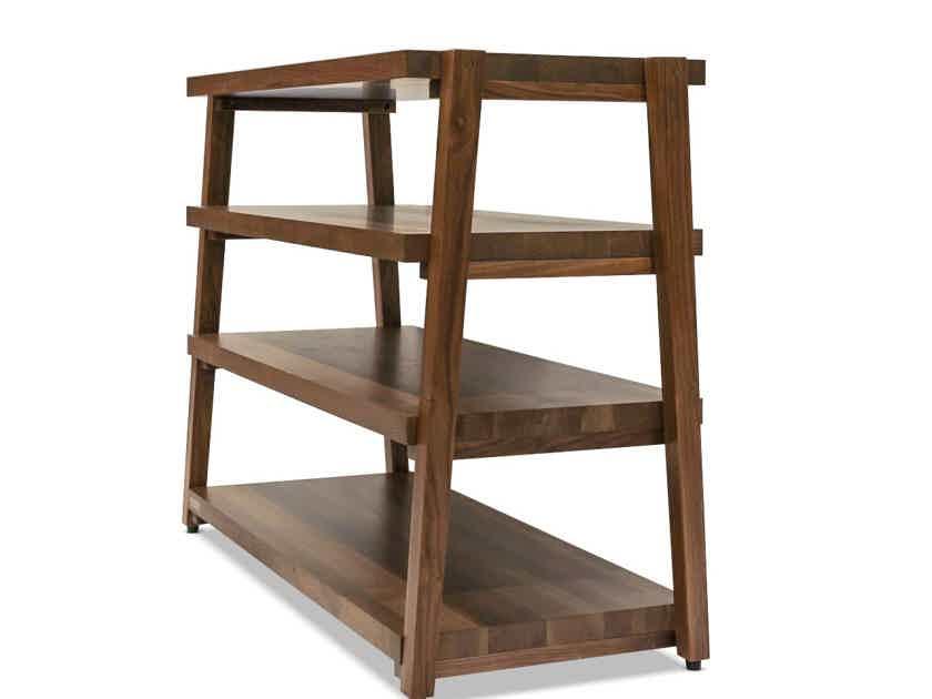 "Butcher Block Acoustics rigidrack™ 42"" X 18"" - 4 Shelf - Walnut Shelves -Walnut Legs"