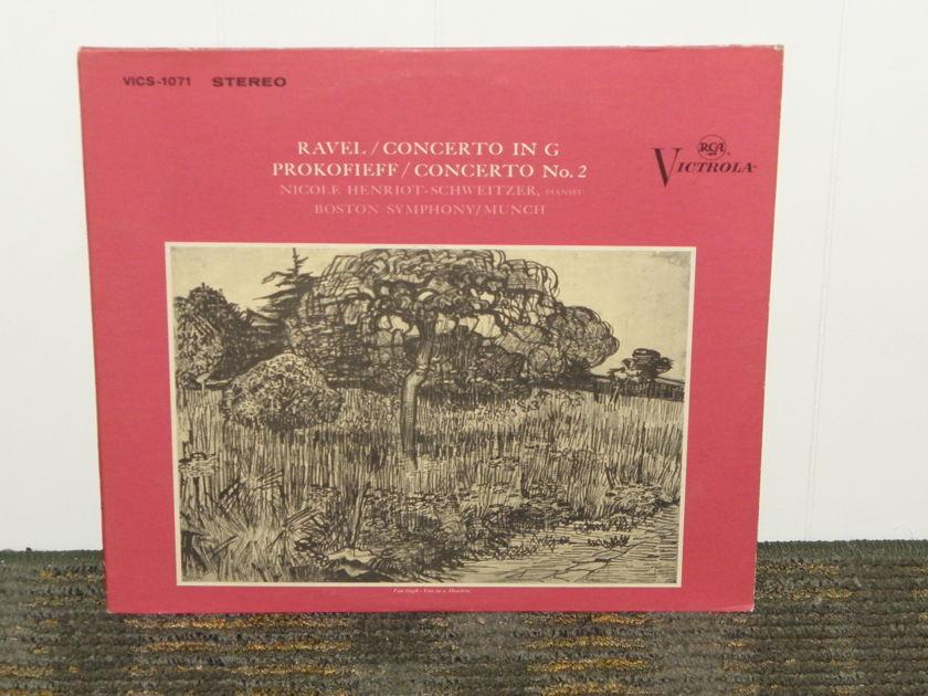 "Henriot-Schweitzer/Boston Symphony Orchestera - Ravel Concerto. In G RCA Plum Victrola VICS-1071  1S/1S ""I"" matrix"