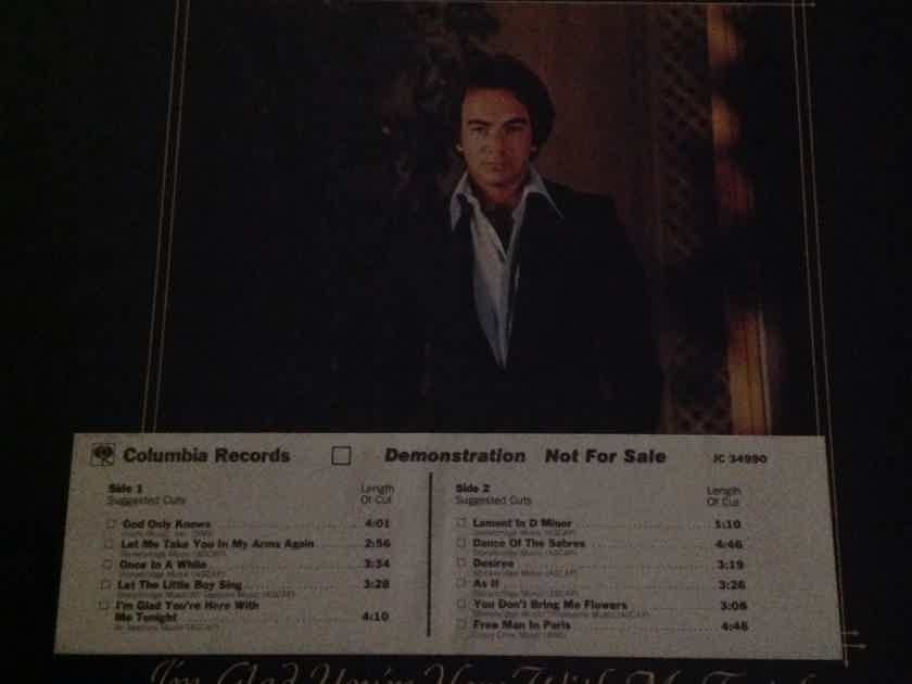 Neil Diamond - I'm Glad You're With Me Tonight Columbia Records White Label Promo Vinyl LP NM