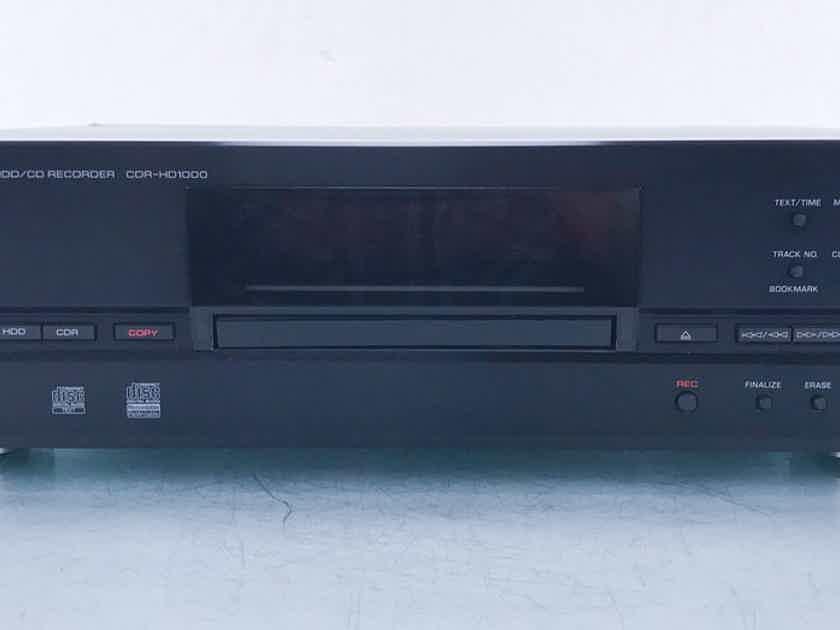 Yamaha CDR-HD1000 CD-R / CD-RW Recorder 20GB HDD; Remote (15251)