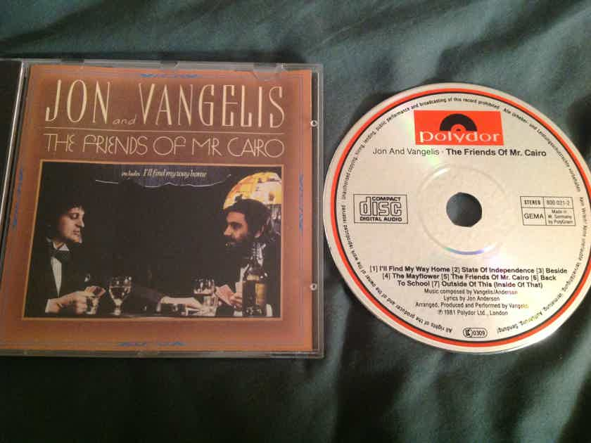 Jon & Vangelis The Friends Of Mr. Cairo Polydor West Germany Compact Disc