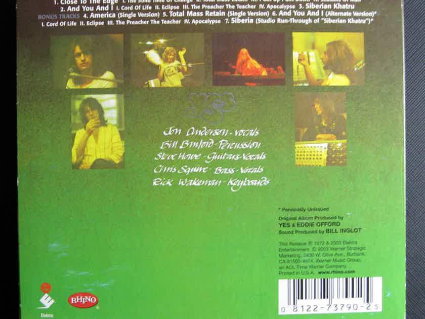 Yes - Close To The Edge -  Remastered 2003 Elektra/Rhino Records R2 73790
