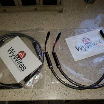WyWires Diamond Interconnect Cables : 2 Pairs Available