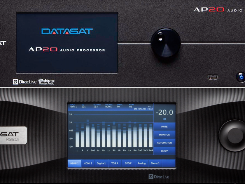 DATASAT DIGITAL AP20 DIGITAL CINEMA 16 CHANNEL PROCESSOR w/DIRAC Pro Version RS20