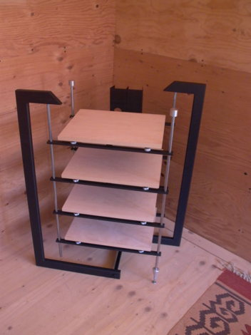 Novus , complete shown with Birch shelves