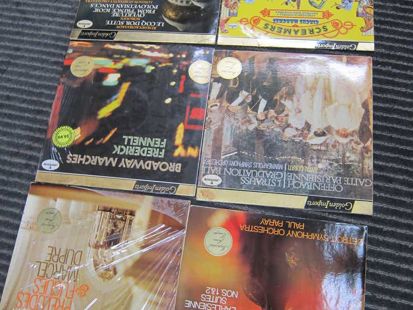 6 Mercury Golden Import Classical LPs, Ex Sound, Production, NICE, Stereo