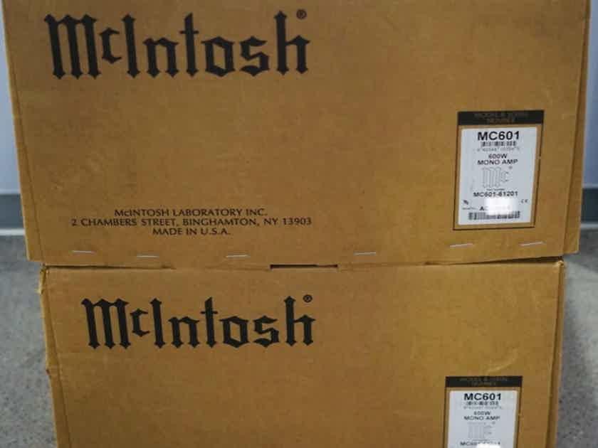 Pair of McIntosh MC-601 monobloc amplifiers