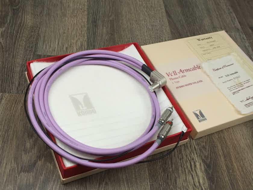 Kondo AudioNote Japan KSL-VcII-Armcable Phono interconnect RCA L-