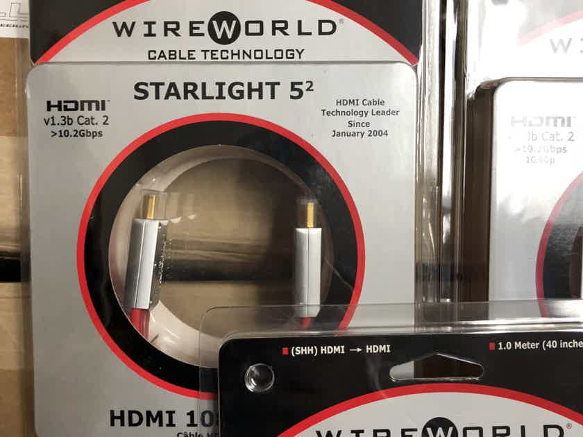 Wireworld Starlight 5.2 HDMI 1 meter Brand new!!!! 10 available $200 retail