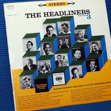 "THE HEADLINERS  - ""Volume III"" - Columbia Record Club 1962"