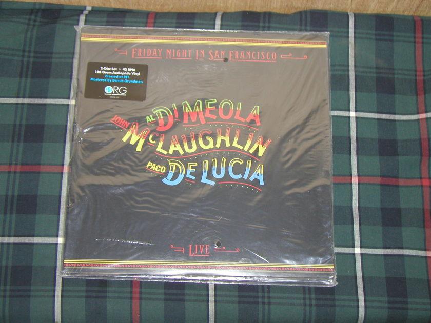 DiMeola/McLaighlin/DeLuca Friday - Night In San Francisco (2LP) ORG  ORG Ltd.Ed #02330 45RPM  Still SEALED