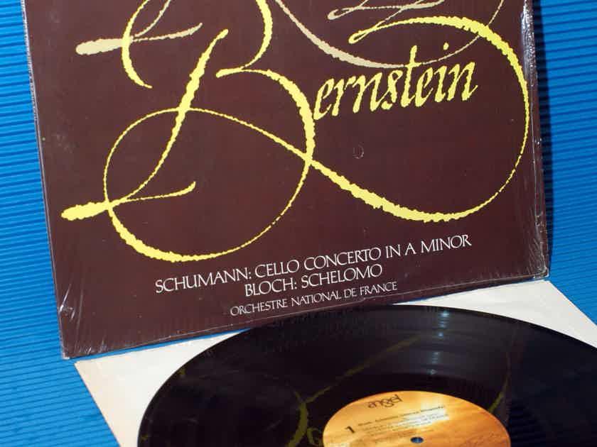 """SCHUMANN / BLOCH / Berstein / Rostropovich - """"Perform Schumann & Bloch"""" -  Angel Quad 1977"""